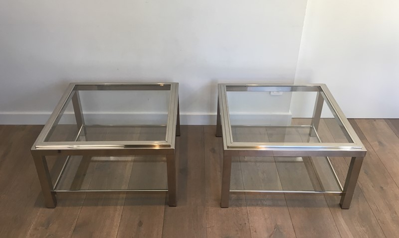 Pair of Important Chrome Side Tables. French. -barrois-antiques-50s-31959-main-636891019847192316.JPG