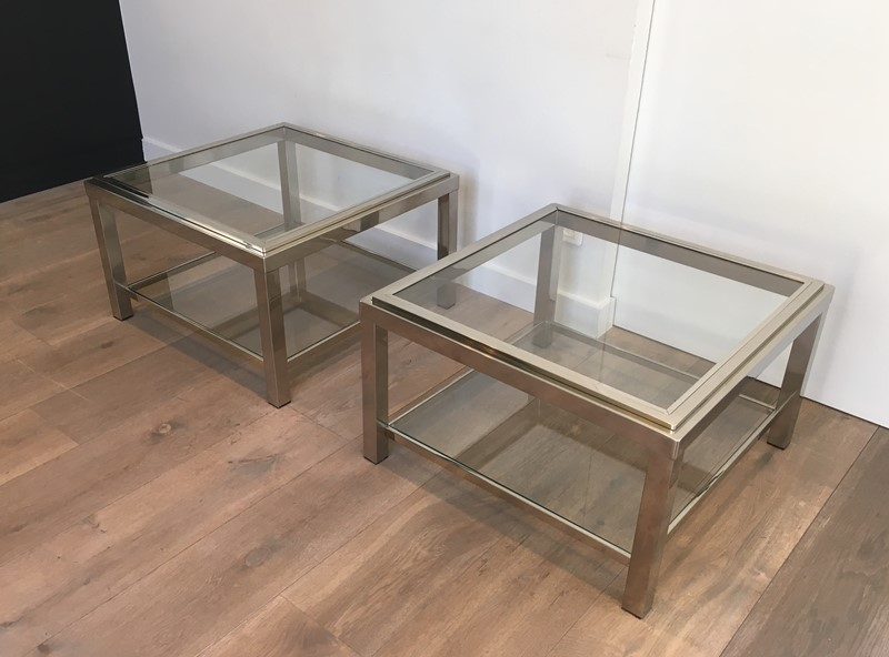 Pair of Important Chrome Side Tables. French. -barrois-antiques-50s-31960-main-636891019867035242.JPG