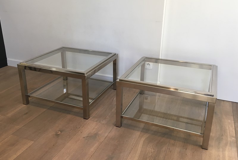 Pair of Important Chrome Side Tables. French. -barrois-antiques-50s-31961-main-636891019889847611.JPG
