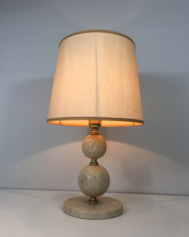 Travertin and Brass Table Lamp. Circa 1970 -barrois-antiques-50s-32065-main-636891003711754257.jpg