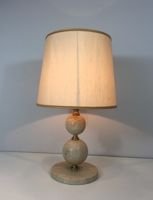 Travertin and Brass Table Lamp. Circa 1970 -barrois-antiques-50s-32066-main-636891003736128945.jpg