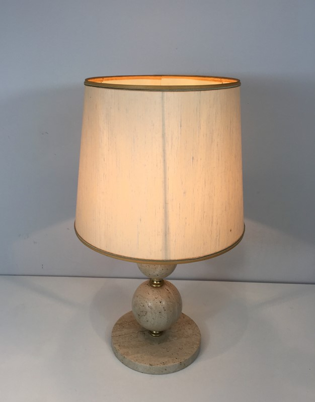 Travertin and Brass Table Lamp. Circa 1970 -barrois-antiques-50s-32067-main-636891003760503841.jpg