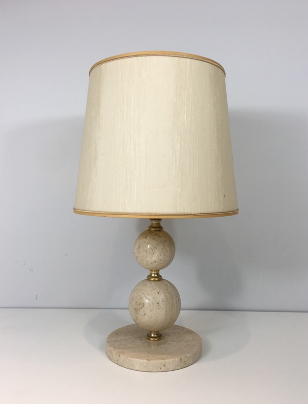 Travertin and Brass Table Lamp. Circa 1970 -barrois-antiques-50s-32069-main-636891003807847318.jpg