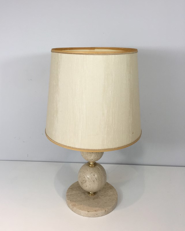 Travertin and Brass Table Lamp. Circa 1970 -barrois-antiques-50s-32070-main-636891003831129112.jpg