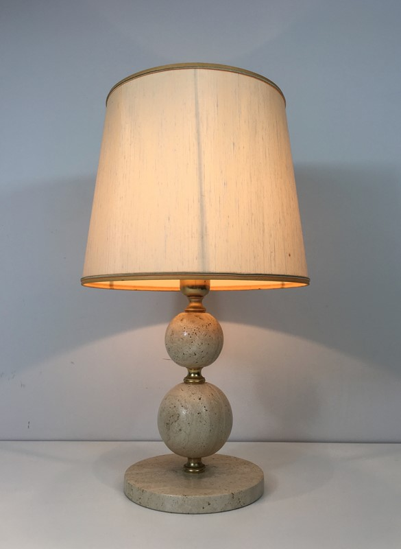 Travertin and Brass Table Lamp. Circa 1970 -barrois-antiques-50s-32073-main-636891004039564649.jpg