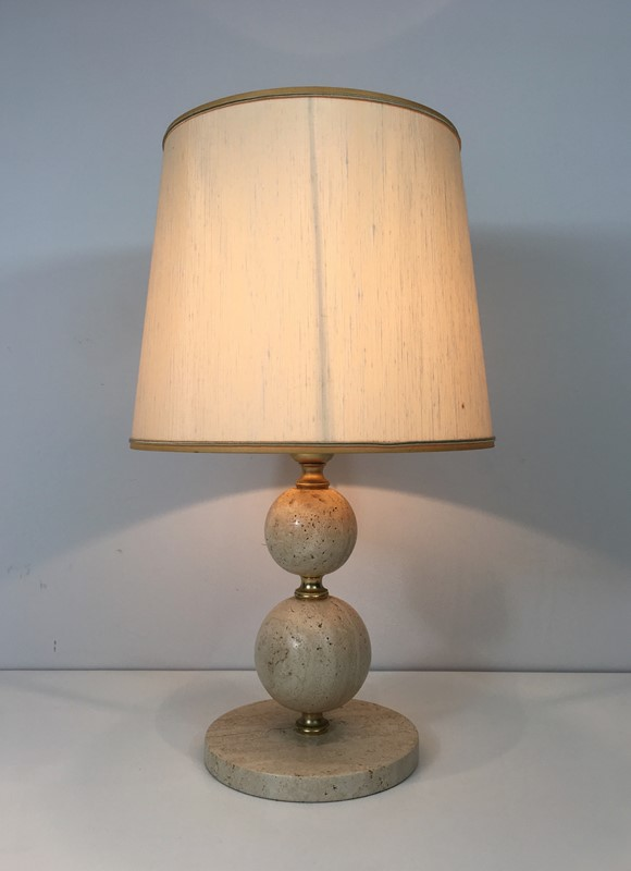 Travertin and Brass Table Lamp. Circa 1970 -barrois-antiques-50s-32075-main-636891004088158918.jpg