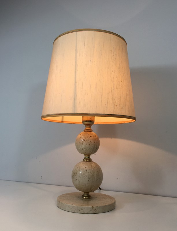 Travertin and Brass Table Lamp. Circa 1970 -barrois-antiques-50s-32076-main-636891004111439030.jpg