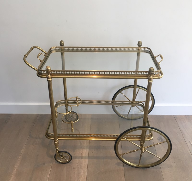 Neoclassical Style Brass Drinks Trolley. French. -barrois-antiques-50s-32094-main-636897080173757186.JPG