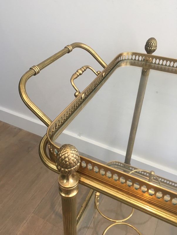 Bagués. Neoclassical Style Brass Drinks Trolley-barrois-antiques-50s-32097-main-636897080347856633.JPG