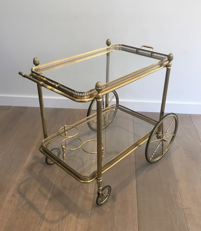 Neoclassical Style Brass Drinks Trolley. French. -barrois-antiques-50s-32102-main-636897080483324789.JPG