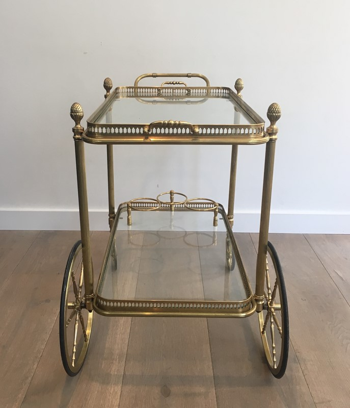 Neoclassical Style Brass Drinks Trolley. French. -barrois-antiques-50s-32103-main-636897080505043719.JPG