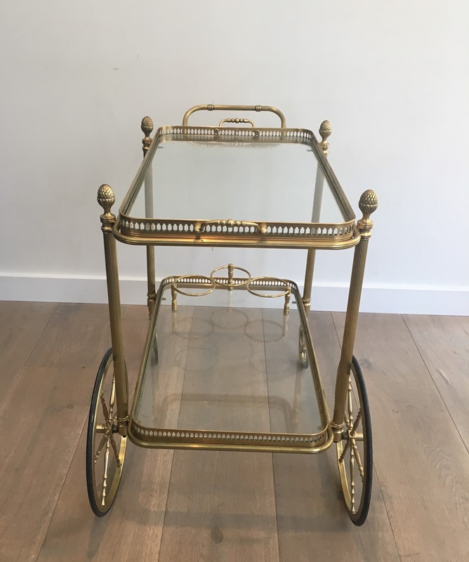Bagués. Neoclassical Style Brass Drinks Trolley-barrois-antiques-50s-32104-main-636897080525668215.JPG