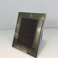 Chrome and Brass Frame. French. Circa 1970