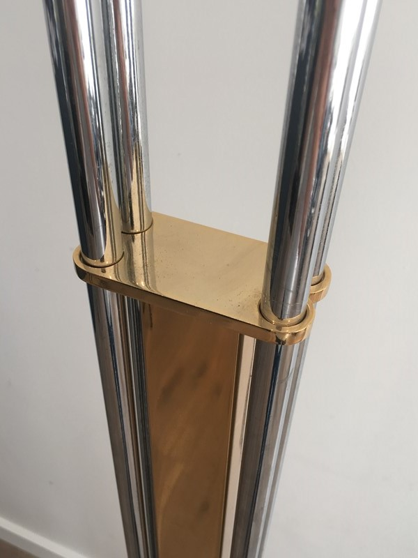 Brass, Chrome and Marble Floor Lamp-barrois-antiques-50s-32718-main-636891011815621587-1.JPG