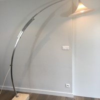 Rare Arco Style Floor lamp in Brushed Aluminium