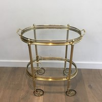 Maison Jansen. Neoclassical Oval Drinks Trolley