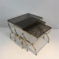 Set of Neoclassical Brass Nesting tables