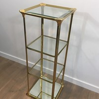 3 Tiers Hollywood Regency Gilt Shelves. French. Ci