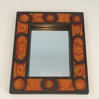 Interesting Ceramic Mirror. French. Circa 1970