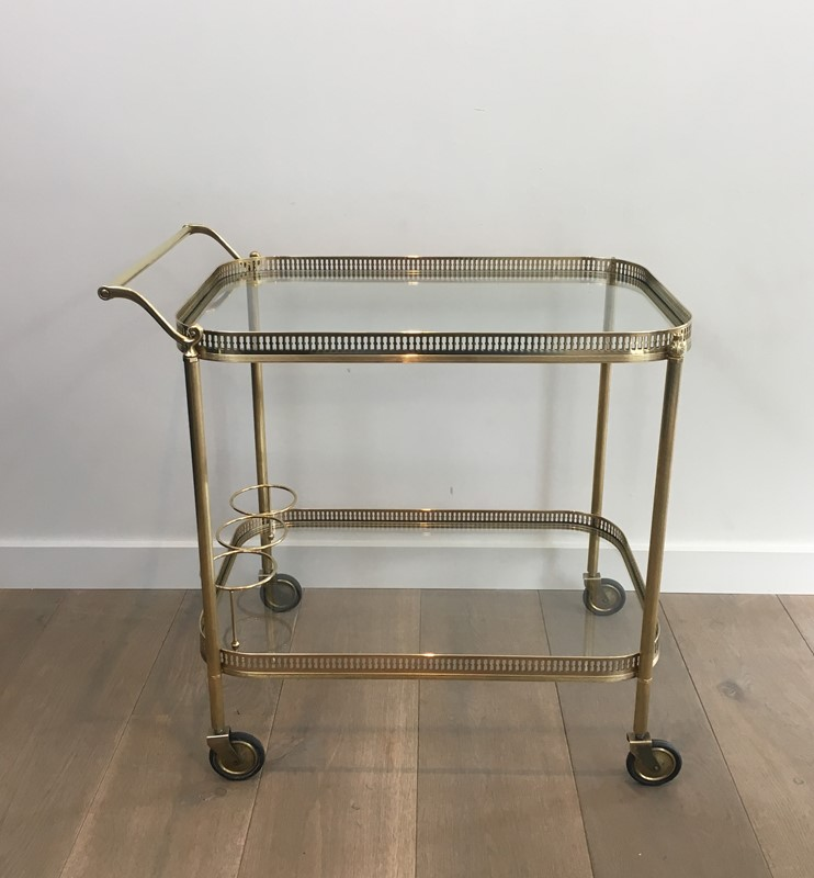 Neoclassical Brass Drinks Trolley. French. 1940's-barrois-antiques-50s-34701-main-637042243907140299.JPG