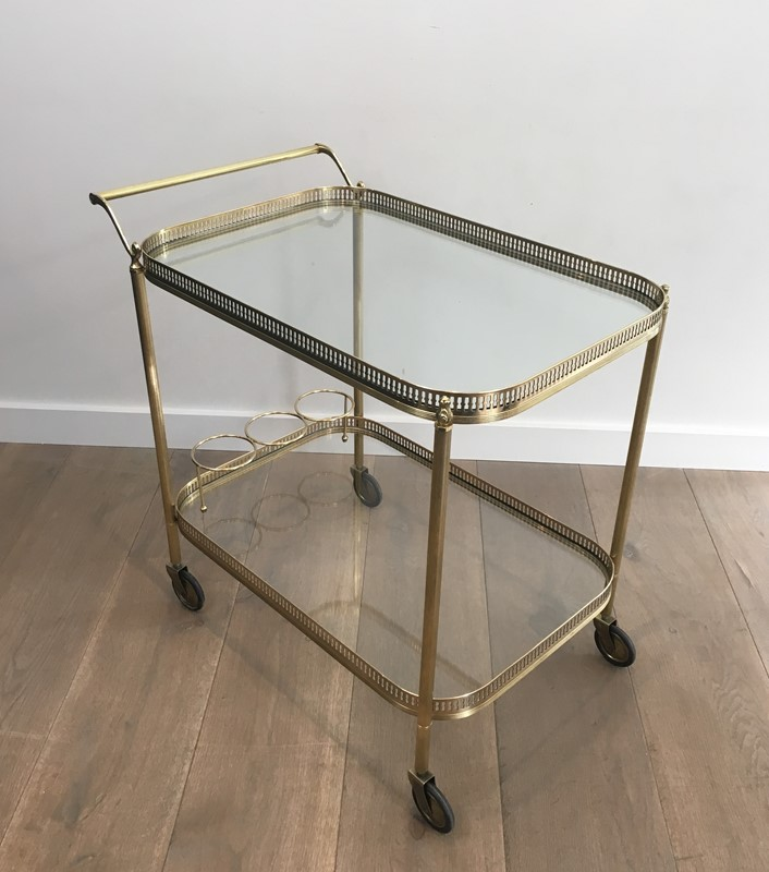 Neoclassical Brass Drinks Trolley. French. 1940's-barrois-antiques-50s-34702-main-637042244049210152.JPG