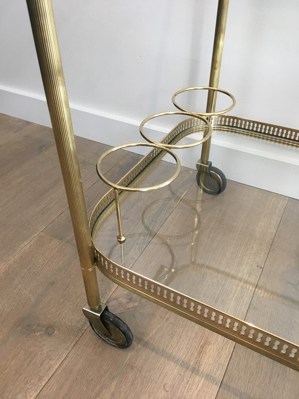 Neoclassical Brass Drinks Trolley. French. 1940's-barrois-antiques-50s-34704-main-637042244501805734.JPG