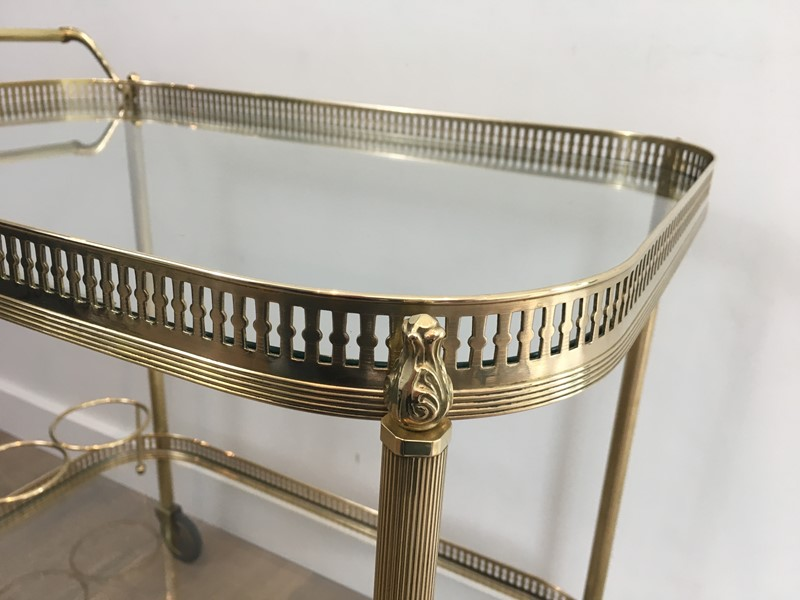 Neoclassical Brass Drinks Trolley. French. 1940's-barrois-antiques-50s-34705-main-637042244927904134.JPG