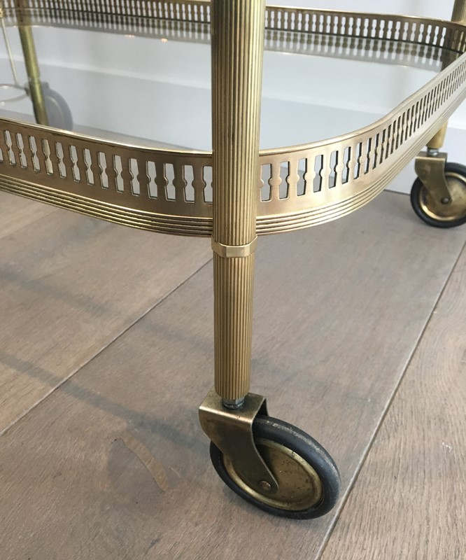 Neoclassical Brass Drinks Trolley. French. 1940's-barrois-antiques-50s-34707-main-637042246081105999.JPG