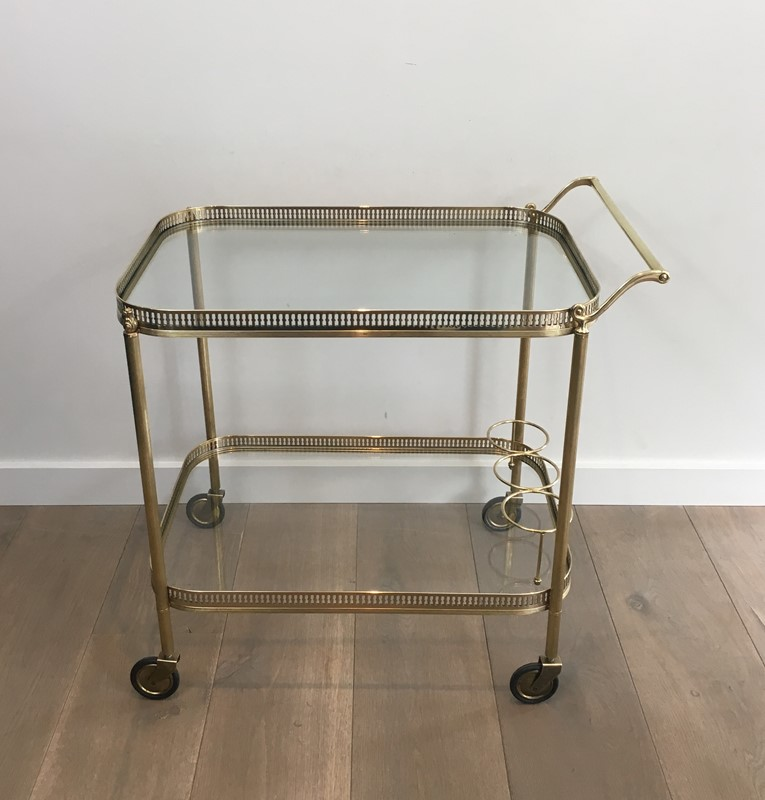 Neoclassical Brass Drinks Trolley. French. 1940's-barrois-antiques-50s-34708-main-637042247934100620.JPG