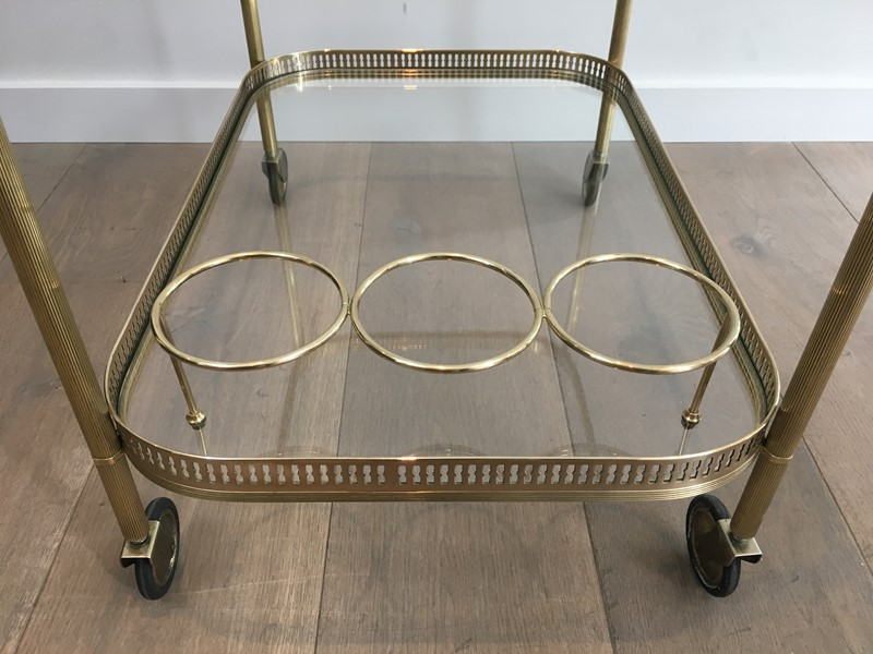 Neoclassical Brass Drinks Trolley. French. 1940's-barrois-antiques-50s-34709-main-637042246302282096.JPG