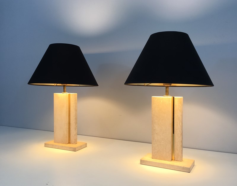 Pair of Travertine and Brass Table Lamps. 1970's-barrois-antiques-50s-34755-main-637042239715127494.jpg