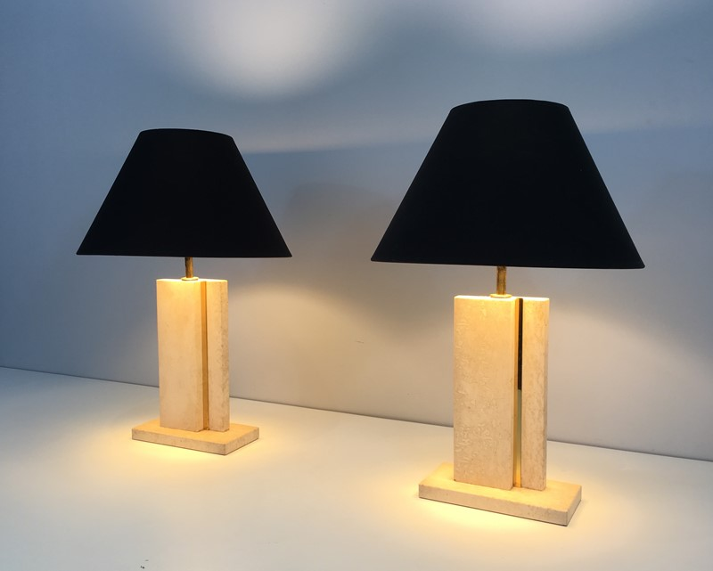 Pair of Travertine and Brass Table Lamps. 1970's-barrois-antiques-50s-34756-main-637042239839647684.jpg
