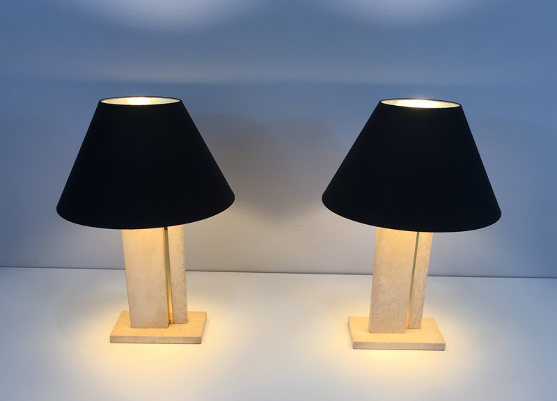 Pair of Travertine and Brass Table Lamps. 1970's-barrois-antiques-50s-34772-main-637042241093990865.jpg