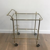 Maison Bagués. Neoclassical Brass Drinks Trolley