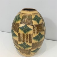 Ceramic Art Deco Vase. Circa 1930