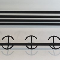 Design Black Metal coat Hanger. French. Circa 1950