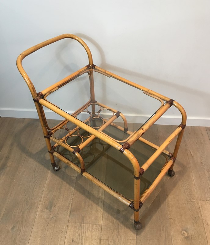 Interesting Rattan Drinks Trolley with Leather-barrois-antiques-50s-36667-main-637247171281073397.jpg