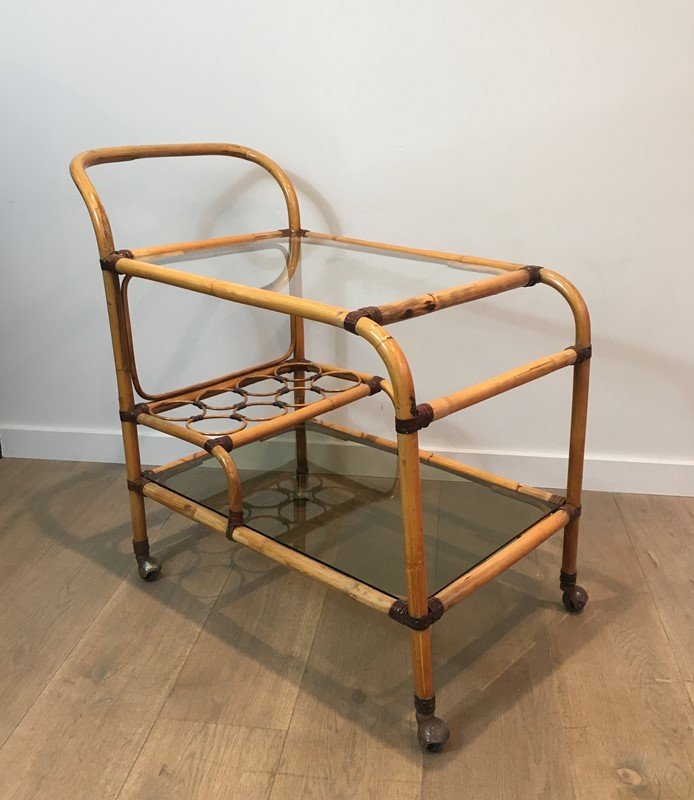 Interesting Rattan Drinks Trolley with Leather-barrois-antiques-50s-36676-main-637247171770598237.jpg