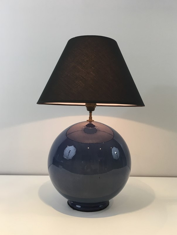 Large Round Blue Ceramic Table Lamp with Shade-barrois-antiques-50s-36884-main-637274659079422950.jpg