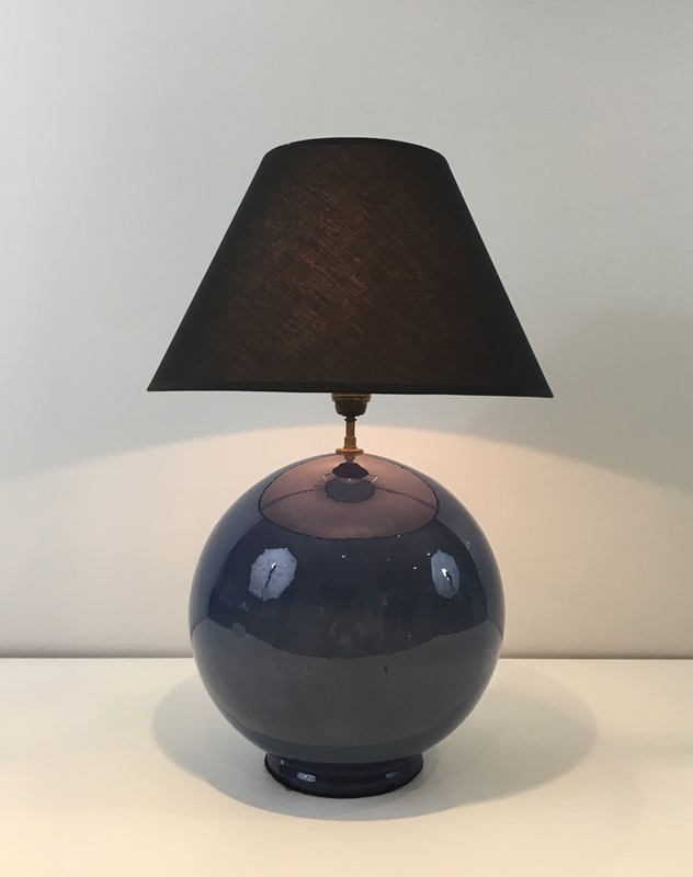 Large Round Blue Ceramic Table Lamp with Shade-barrois-antiques-50s-36885-main-637274659406921734.jpg