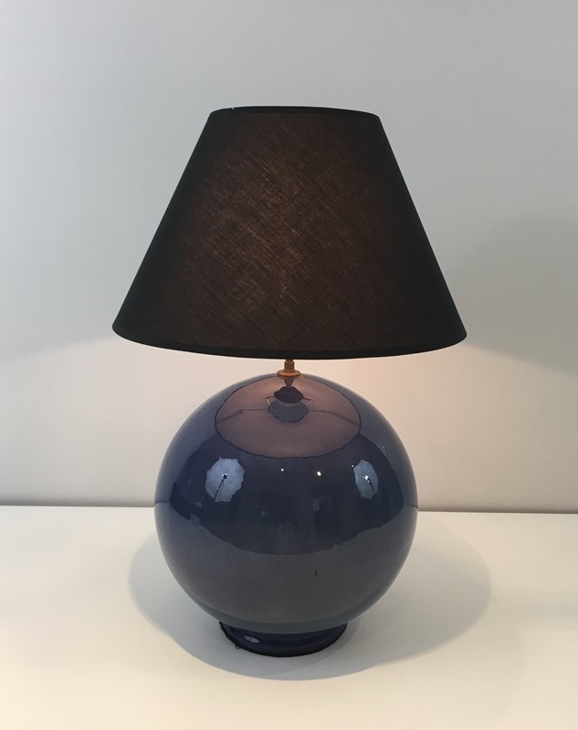 Large Round Blue Ceramic Table Lamp with Shade-barrois-antiques-50s-36886-main-637274659428640497.jpg