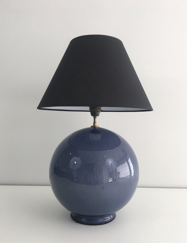 Large Round Blue Ceramic Table Lamp with Shade-barrois-antiques-50s-36887-main-637274659449109062.jpg