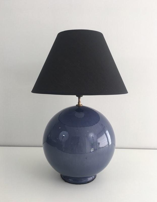 Large Round Blue Ceramic Table Lamp with Shade-barrois-antiques-50s-36888-main-637274659471765215.jpg