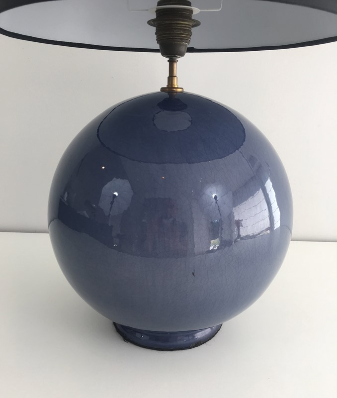 Large Round Blue Ceramic Table Lamp with Shade-barrois-antiques-50s-36889-main-637274659493483840.jpg