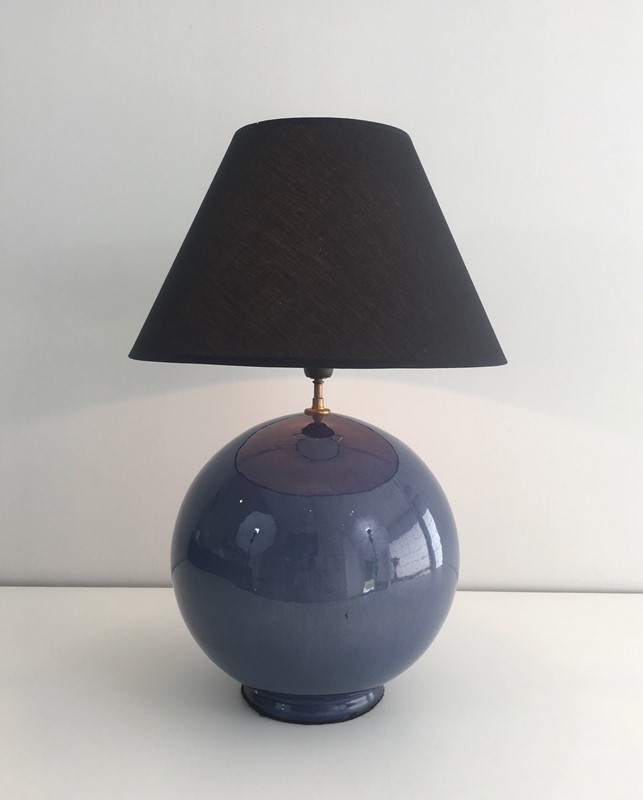 Large Round Blue Ceramic Table Lamp with Shade-barrois-antiques-50s-36892-main-637274659567234427.jpg