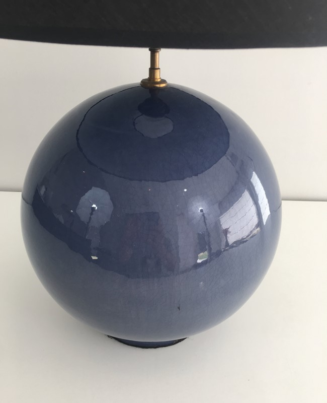 Large Round Blue Ceramic Table Lamp with Shade-barrois-antiques-50s-36893-main-637274659587077933.jpg