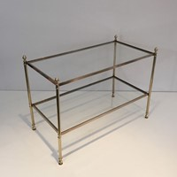 Maison Jansen. Neoclassical Style Brass Side Table