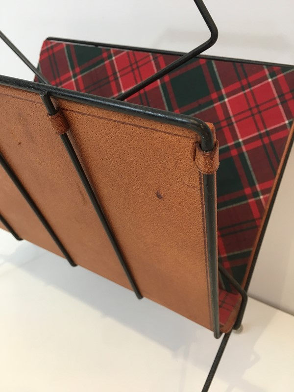 Black Metal, Leather & Square Fabric Magazine Rack-barrois-antiques-50s-37427-main-637285023329300170.jpg