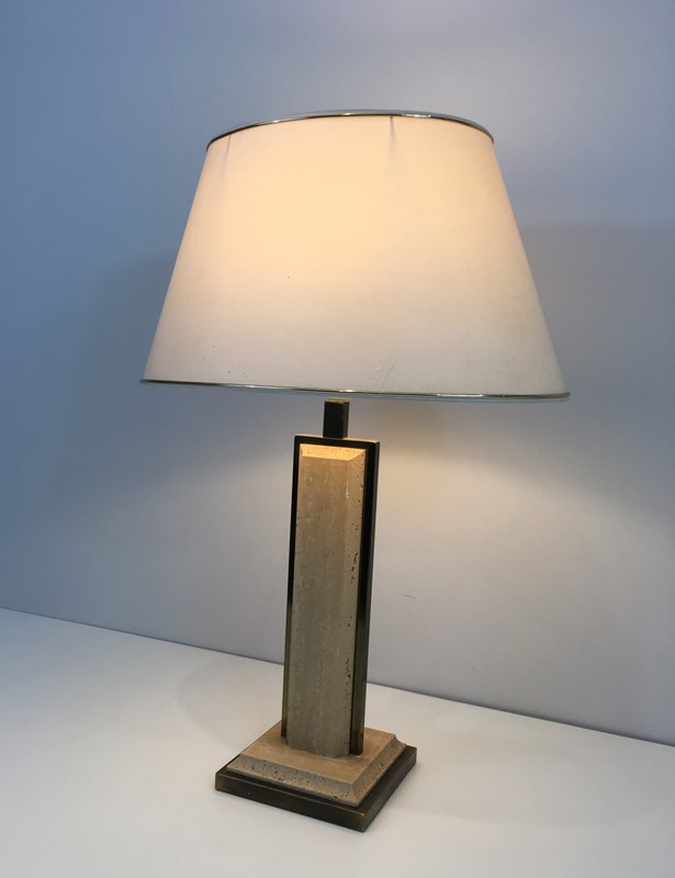 Travertine and Gilt Chrome Table Lamp. French-barrois-antiques-50s-37457-main-637285034107374251.jpg
