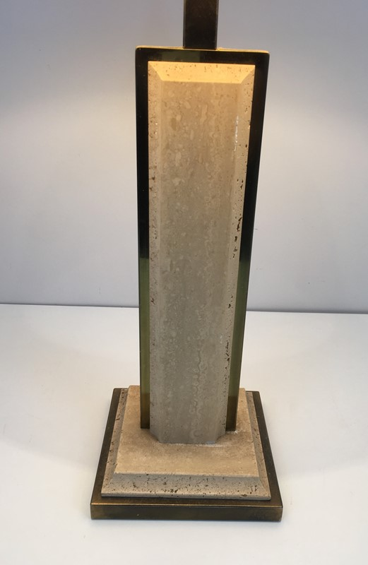 Travertine and Gilt Chrome Table Lamp. French-barrois-antiques-50s-37459-main-637285034155030172.jpg